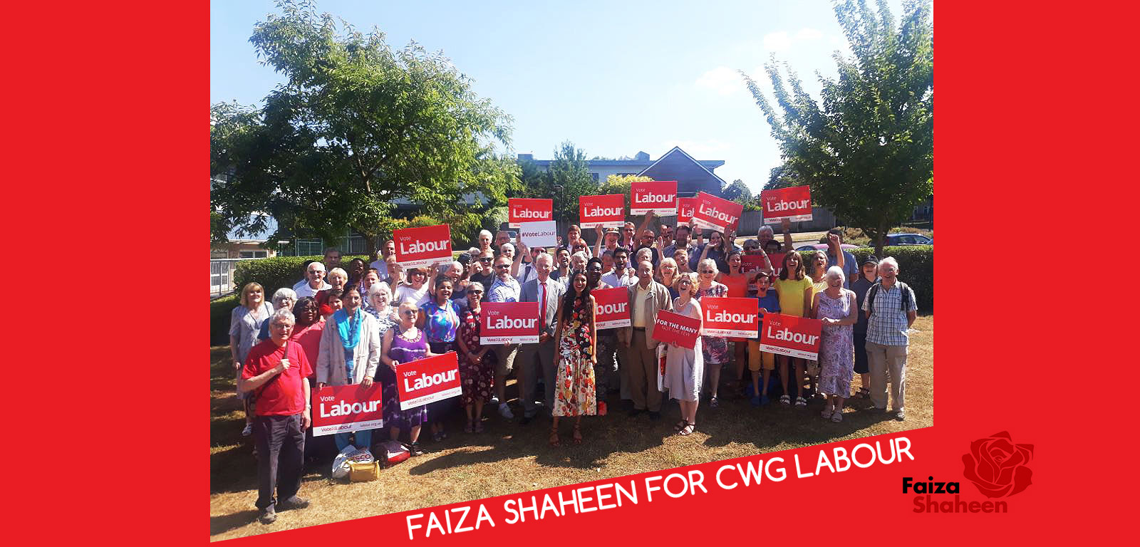 Faiza Shaheen For CWG Labour 2018
