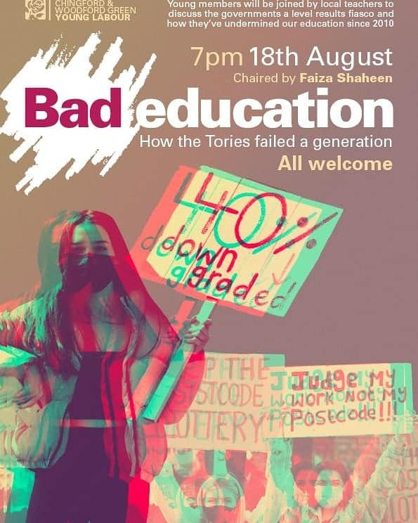 Bad Education - CWG Young Labour flyer